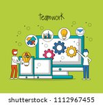 people teamwork concept | Shutterstock .eps vector #1112967455