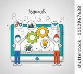 people teamwork concept | Shutterstock .eps vector #1112967638