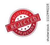 rejected stamp isolated on...
