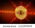 eos. crypto currency. block... | Shutterstock .eps vector #1112993945