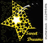 good night and sweet dreams... | Shutterstock .eps vector #1112995496