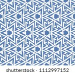 seamless pattern with symmetric ... | Shutterstock .eps vector #1112997152