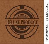 deluxe product realistic wooden ... | Shutterstock .eps vector #1113006152