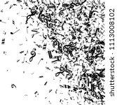 musical notes on white... | Shutterstock .eps vector #1113008102