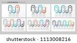 vector infographics set with... | Shutterstock .eps vector #1113008216