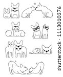 set of cat and dog pairs   Shutterstock .eps vector #1113010376