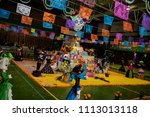 day of the dead in  mexico.  ... | Shutterstock . vector #1113013118