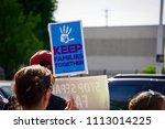 detroit  michigan   june 14 ... | Shutterstock . vector #1113014225