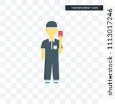 referee vector icon isolated on ... | Shutterstock .eps vector #1113017246