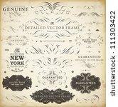 vector set of calligraphic... | Shutterstock .eps vector #111303422