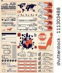 car info graphics vector set | Shutterstock .eps vector #111303488