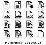 set of file management and... | Shutterstock .eps vector #111303725