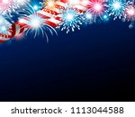 usa 4th of july independence... | Shutterstock .eps vector #1113044588