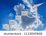 paper airplanes soar to clear... | Shutterstock . vector #1113045848