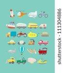 transportations vector pack | Shutterstock .eps vector #111304886