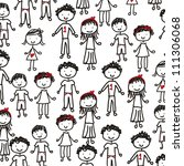children drawing over white... | Shutterstock .eps vector #111306068