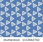 seamless pattern with symmetric ... | Shutterstock .eps vector #1113062762