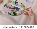 workplace of the mosaic master  ... | Shutterstock . vector #1113066902