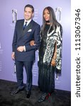 Small photo of New York, NY - June 12, 2018: Firmenich Theo Spilka and Naomi Campbell wearing dress by Alexander McQueen attend 2018 Fragrance Foundation Awards at Alice Tully Hall at Lincoln Center