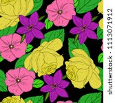 vector seamless pattern with... | Shutterstock .eps vector #1113071912