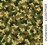 seamless camouflage in green... | Shutterstock .eps vector #1113079505