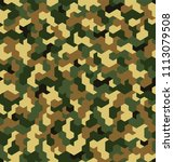 seamless camouflage in green... | Shutterstock .eps vector #1113079508