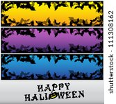 halloween banner set | Shutterstock .eps vector #111308162