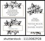 vintage delicate invitation... | Shutterstock .eps vector #1113082928