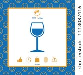 wineglass symbol icon | Shutterstock .eps vector #1113087416