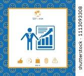 presentation sign icon. man...   Shutterstock .eps vector #1113093308