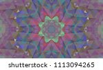 geometric design  mosaic of a... | Shutterstock .eps vector #1113094265