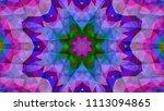 geometric design  mosaic of a... | Shutterstock .eps vector #1113094865