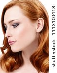 close up portrait of a... | Shutterstock . vector #1113100418