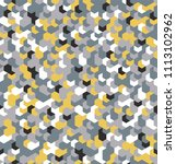 seamless camouflage in yellow... | Shutterstock .eps vector #1113102962