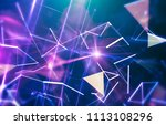 abstract blue background.... | Shutterstock . vector #1113108296