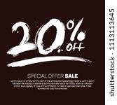 20  off promotional special... | Shutterstock .eps vector #1113113645