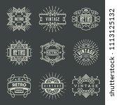 logotypes retro vintage.... | Shutterstock .eps vector #1113125132