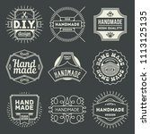 logotypes diy do it yourself... | Shutterstock .eps vector #1113125135