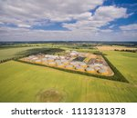 aerial view of a big biogas... | Shutterstock . vector #1113131378