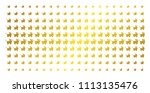 baby carriage icon gold colored ... | Shutterstock .eps vector #1113135476