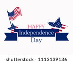 independence day 4th of july.... | Shutterstock .eps vector #1113139136