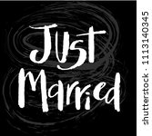 just married hand drawn... | Shutterstock .eps vector #1113140345