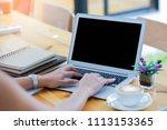business women working in... | Shutterstock . vector #1113153365