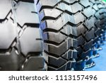 tires are big truck  tractor or ... | Shutterstock . vector #1113157496