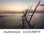 panorama of beautiful sunset at ... | Shutterstock . vector #1113158975
