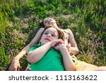 the boy and his mother are...   Shutterstock . vector #1113163622