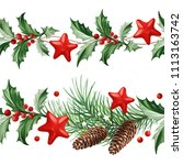 frame with christmas decoration ...   Shutterstock .eps vector #1113163742