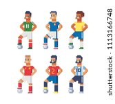 soccer players in the uniform... | Shutterstock .eps vector #1113166748