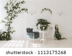 luxury delicate interior of... | Shutterstock . vector #1113175268