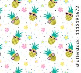 seamless pattern with cool... | Shutterstock .eps vector #1113191672